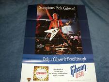 Scorpions/Schenker/Gibson Guitars Promo Poster & Buttons