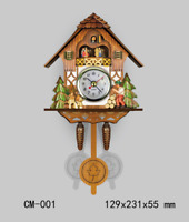 Vintage Cuckoo Clock Forest Swing Wall Room Decor Wood Cartoon Clock New