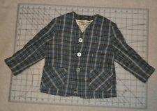 Vtg Boys 2-4T Wool Sport Coat Blazer Suit Jacket, plaid, possibly handmade