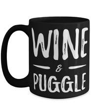 Puggle Mom Wine Lover Tea Cup Funny Dog Mom Gift Idea
