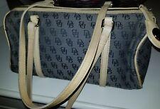 Dooney & Bourke Logo Barrel Shoulder Bag Purse AUTHENTIC