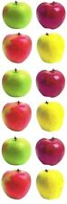 ~ Apples Fruit Red Green School Snack Healthy Paper House StickyPix Stickers ~