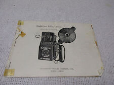 Vintage Optika Single Lens Reflect Musashina Optical Co Camera Manual