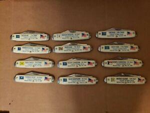 U.S. State Vintage Pocket Knife Lot