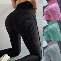 Damen Push Up Leggins Jogginghose Sports Gym Leggings Yoga Hosen Fitness Stretch
