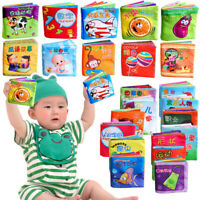 Baby Early Educational Intelligence Development Cloth Fabric Cognize Book Toys #