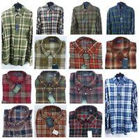 Arrow Men Flannel Shirt Button Down Classic Soft Touch Chest Pocket $50
