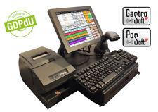 Touchscreen Kassensystem Handel Gastronomie Kassenlade Barcodescanner Windows 7