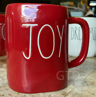 "Authentic Rae Dunn by Magenta ""JOY"" Christmas /Xmas Gift 2018 Red Mug NEW"