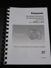 Panasonic Lumix LX5 Cámara Manual Del Usuario Impreso Guía Manual De 236 páginas A5