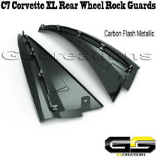 C7 Corvette XL Extra Large Rear Extended Molded Splash Rock Guards Carbon Flash
