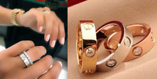 FAST DELIVERY XS S M L XL LOVE SCREW RING GOLD SILVER ROSE GOLD CRYSTAL WEDDING