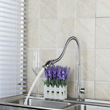 New Swivel Spout Kitchen Sink Mixer Taps Single Handle/Hole Deck Mounted Faucet