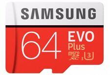 SAMSUNG 64GB Class10 UHS-3 Micro SD Micro SDXC MicroSDXC Card 100MB/s EVO PLUS
