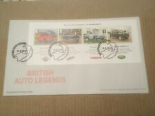 GB 2013 British Auto Legends Miniature Sheet RM UA FDC Towcester, Northants SHS