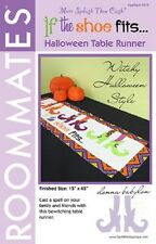 IF THE SHOE FITS by More Cash TABLE RUNNER-TOPPER-PLACEMATS Halloween pattern