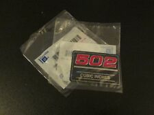 Lot of (2) NOS 502 Cubic Inch Valve Cover Emblems
