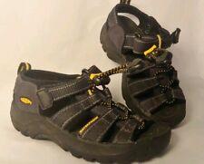 Keen Kids Size 9 Newport Dark Charcoal Gray EUC Water River Shoes Sandals Boatin