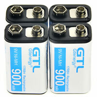 4 stücke Durable 9 V 9 Volt 900 mAh Power Ni-Mh Akku Zelle PPS block gift