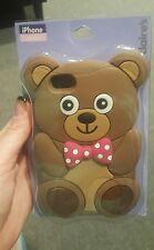 Adorable silicone teddy bear iPhone 4/4S case