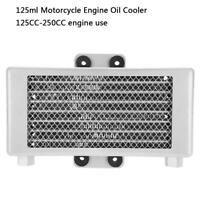 125ml Motorcycle Engine Oil Cooler Cooling Radiator for 125CC-250CC Silver am