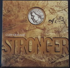 CLIFF RICHARD - STRONGER 1989 OZ LP AUTOGRAPHED BY CLIFF ON FRONT COVER NEAR MIN