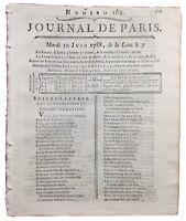 Clichy la Garenne 1788 Casaubon Journal de Paris Théâtre