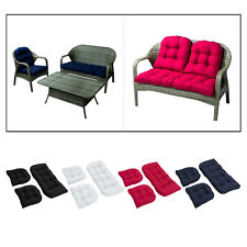 2 Seater Bench Swing Seat Cushion Home Wicker Settee Loveseat Chair Cushion Pad