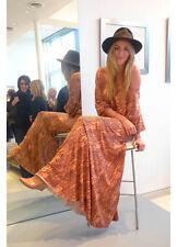 $245 Rachel Pally AURORA Tan Dune Fossil Print Off Shoulder Maxi Dress XXS NWT