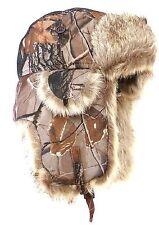 Invierno cálido Selva árbol Diseño forrada de piel sintética Cazador Estilo Térmica Hat One Size