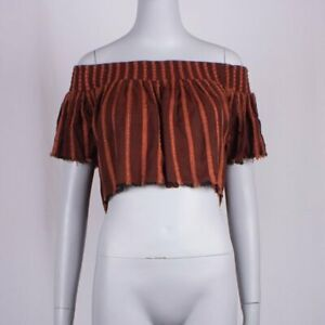 Free People Off-The-Shoulder Crop Top Size XS