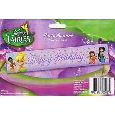 Tinkerbell-Disney Fairies Purple Banner Party Decoration