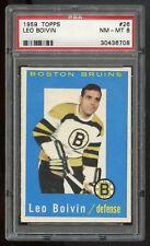 1959 Topps #26 Leo Boivin *Bruins* PSA 8 NM-MT #30436708