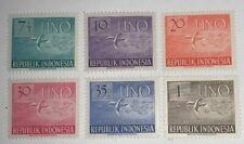 Travelstamps:1951 Indonesia Stamps SC 362-367, Set of 6, UN Peace Dives, MNH OG