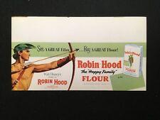 1952 Robin Hood Flour Shelf Display Sign Walt Disney