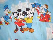 VINTAGE MICKEY MOUSE DISNEY TWIN FLAT Sheet BLANKET Frontierland DISNEYLAND HTF