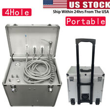 High Suction Dental Mobile Delivery Unit Rolling Case Compressor Turbine Portabl