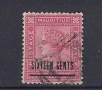 Mauritius Seychelles QV 1878 16c O/P SGZ63 Fine Used J5863