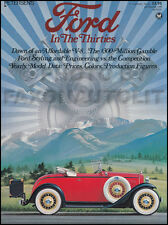 Ford in the Thirties History 1941 1940 1939 1938 1937 1936 1935 1934 1933 1932