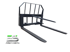"Es 48"" Pallet Fork/Bale Spear Combo Quick Attach Skid Steer Loader Local Pickup"
