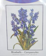 DMC Bluebells Counted Cross Stitch Kit Blue Flowers Campanules BK1178 NEW