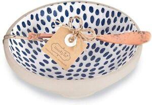 Mud Pie E1 Home Dining Indigo Dip Bowl & Copper Spreader 2pc Set 48500095 Choose