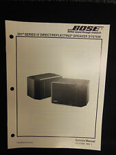 BOSE 301 Series IV Direct/Reflecting Speaker System Service Manual OEM ☆ EXC ☆