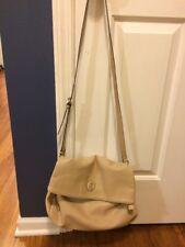 JLO Jennifer Lopez Tan Faux Leather Crossbody Purse Handbag
