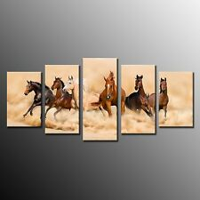FRAMED Canvas Prints Running Horse Wall Art Picture Home Decor for Bedroom 5pcs