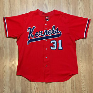 Cedar Rapids Kernels #31 Authentic Team Issued MiLB Baseball Jersey