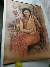 """Vintage Chinese Advertisement Poster, 1920s, #10, 30"""" by 20"""", part of collection"""
