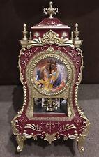Disney Beauty And The Beast - Mahogany Pendulum Clock Castle - 32cm  - BNIB
