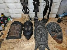 More details for ghana wooden tribal mask statue