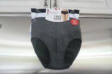 SKINNYGIRL 3 PACK SHAPING BRIEFS.....SEAMLESS..SMALL...GREY,WHITE & BLACK